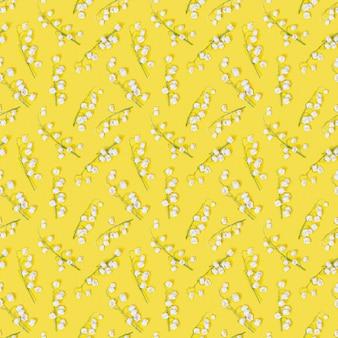 흰 백합 꽃 피는 봄 기하학적 패턴
