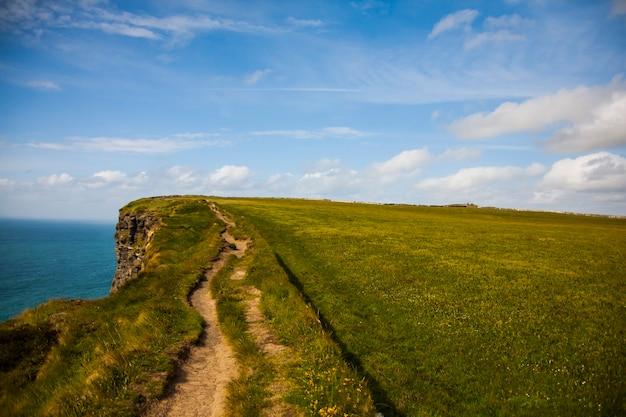 Spring landscape in cliffs of moher aillte an mhothair, ireland.