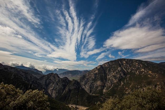 トレム山脈、リェイダ、ピレネー、スペインの春の風景