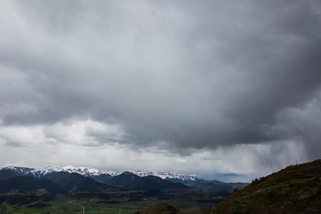 Spring landscape in la cerdanya, girona, pyrenees, spain