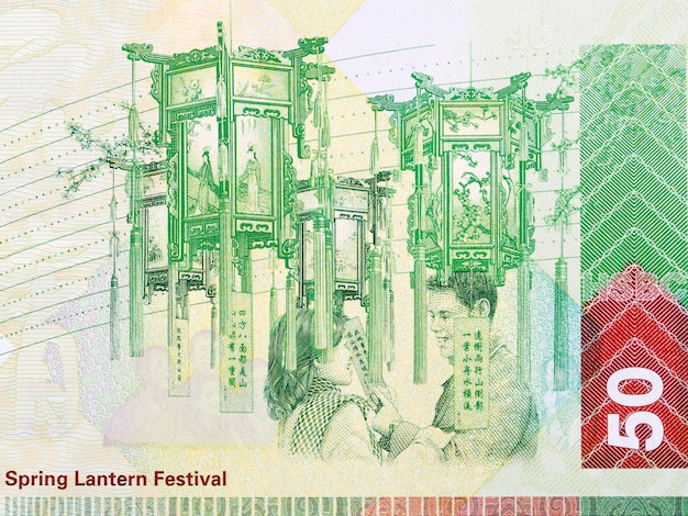 Spring lantern festival from hong kong money