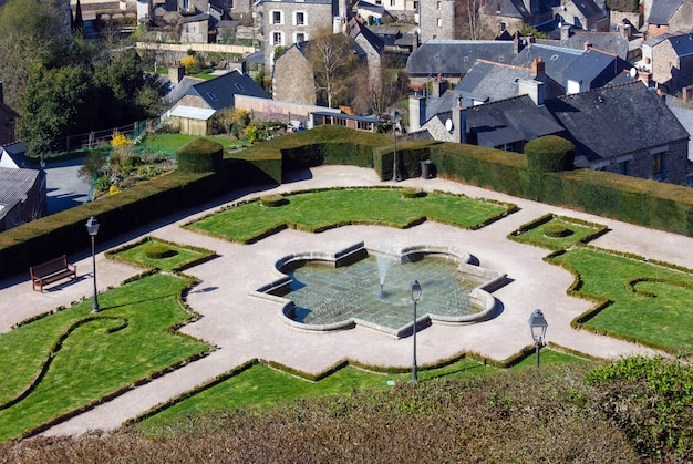 Spring park in fougeres town france, brittany