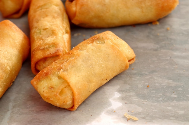 Spring rolls at street food