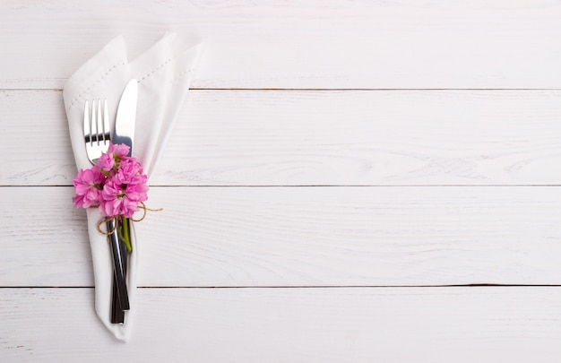 Spring or summer table setting