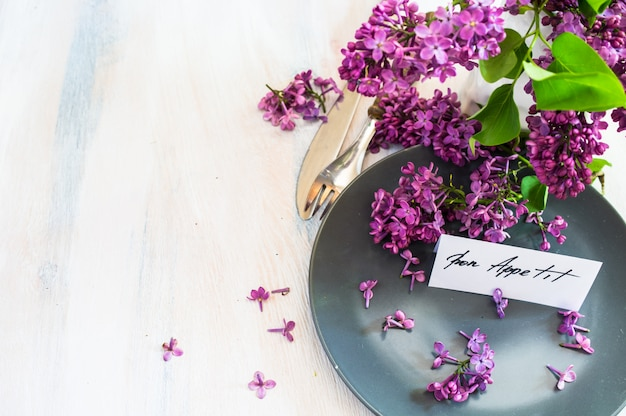 Spring time interior table