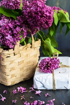 Spring time interior with lilac