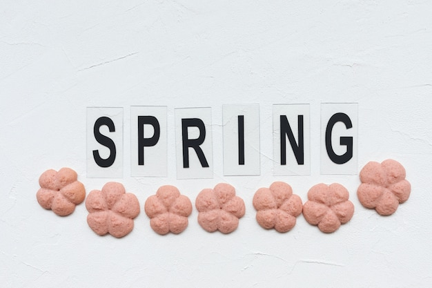 Spring word and flower cookies