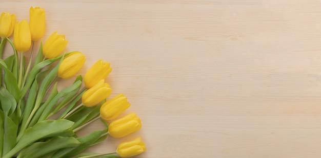 Весенние желтые тюльпаны на дереве stock photo тюльпан