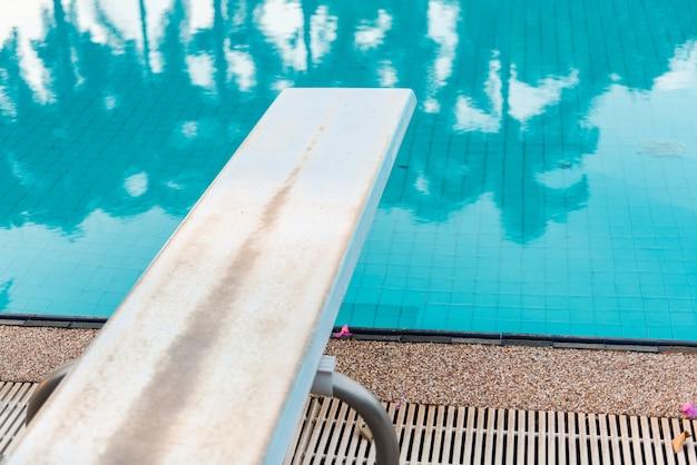 Springboard to dive at swimmingpool