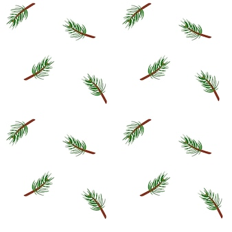 Spruce branches seamless pattern