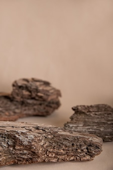 Spruce and pine bark isolated