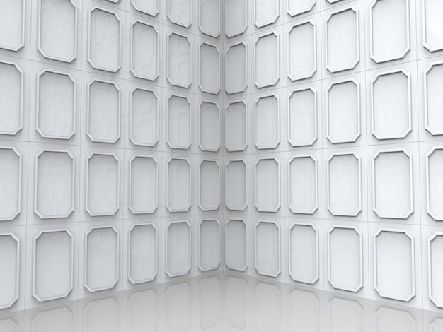 モダンクラシックsqaureパターンスタイルコーナーウォールと床の背景
