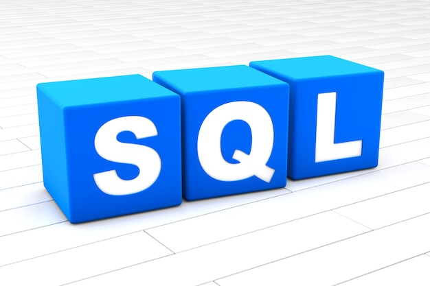 Sql word illustration