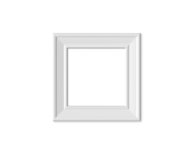 木製またはプラスチック製の正方形の空白の額縁