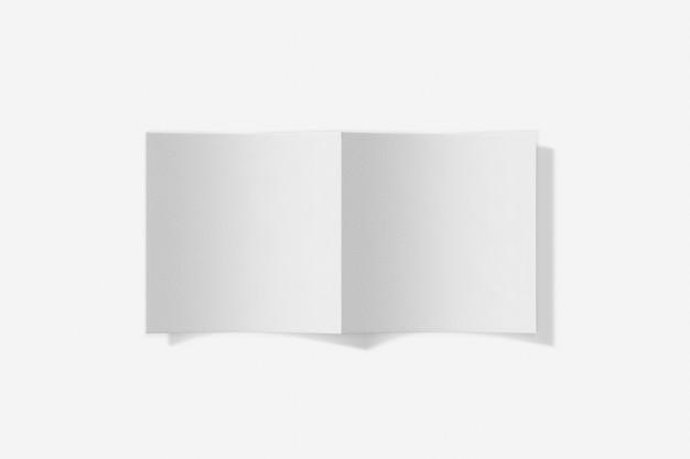 흰색 배경에 고립 된 사각형 책자