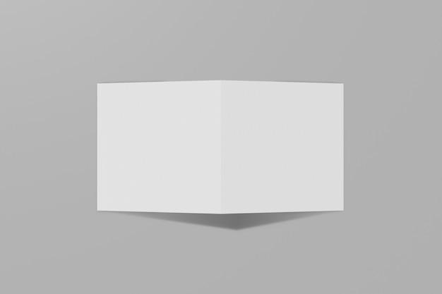 하드 커버와 함께 회색에 고립 된 사각형 책자