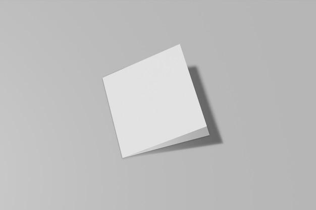 회색에 고립 된 사각형 책자