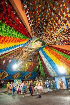 Выступление кадриль на празднике святого иоанна кампина гранде параиба, бразилия, 8 июня 2009 г.