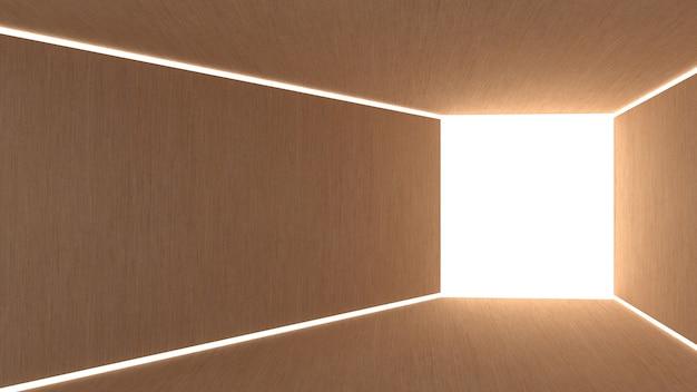 正方形の未来的なトンネルとゲート