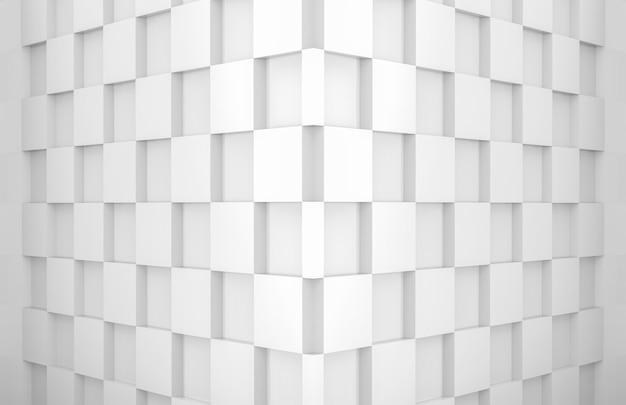 Square grid tile floor corner room wall