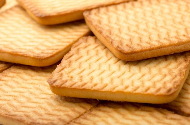 正方形の自家製クッキー