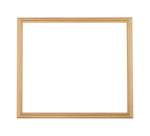Cornice quadrata in legno per pittura o immagine isolata su sfondo bianco