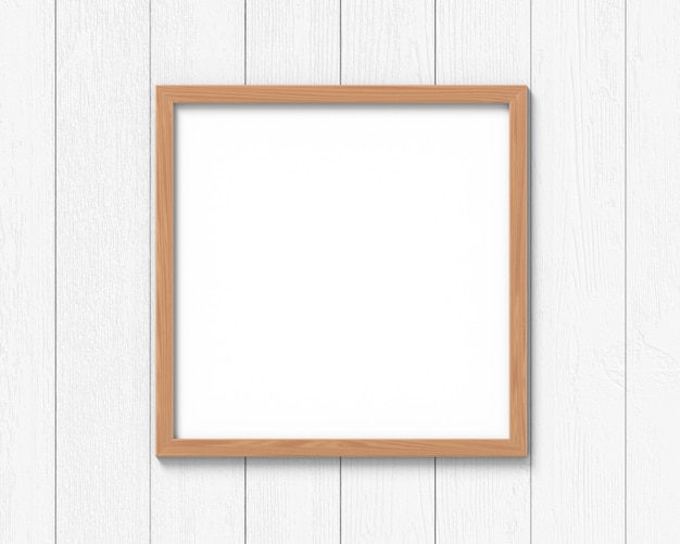 Квадратный деревянный каркас макета висит на стене