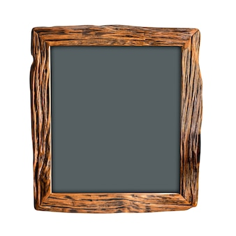 Square wooden picture frame mockup