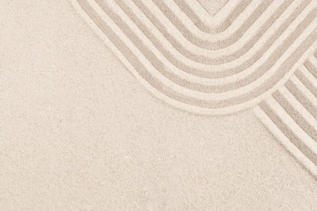 マインドフルネスコンセプトの四角い禅砂の背景