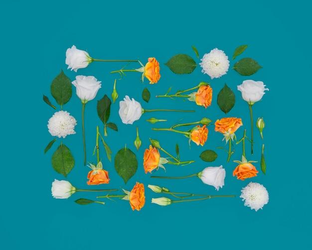 Коллекция квадратных цветов