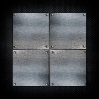 Squared metallic shapes background
