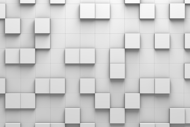 Squared tiles 3d pattern wall