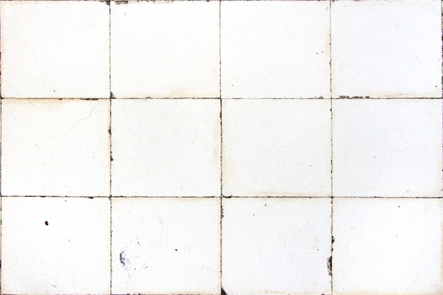 Piastrelle bianche squared