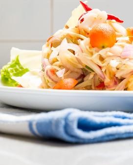 Squid eggs spicy salad
