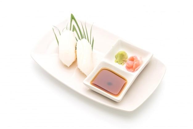 Squid sushi nigiri - japanese food style