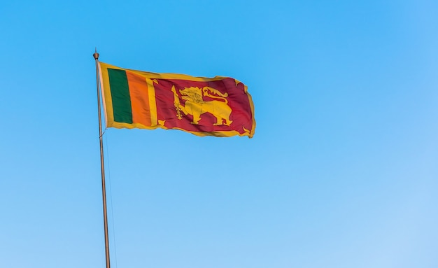 Sri lanka flag on blue sky