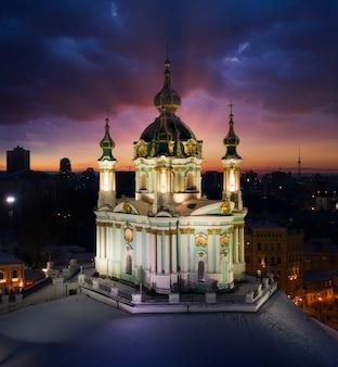 Андреевская церковь, вид с дрона.