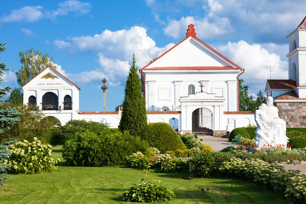St. anne's church in mosar, belarus. architectural monument of classicism.