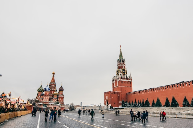 St basil cathedral on red square, moscow, russia