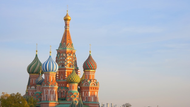 St. basil's cathedral in red square moscow kremlin, russia.
