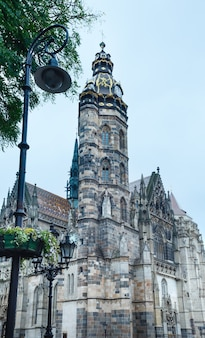 St. elisabeth cathedral (built between 1378 and 1508). kosice, slovakia.