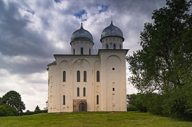 St. george's cathedral, 12th century, in yuriev monastery, novgorod oblast