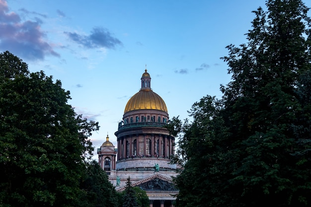 Исаакиевский собор на закате, россия
