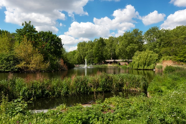 St james park is the oldest royal park in westminster, central london in england.