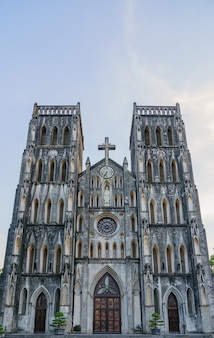 St joseph's cathedral is a old church in vietnam. its a late 19th-century gothic revival neo-gothic style church that serves as the cathedral of the roman catholic archdiocese in old quarter city.
