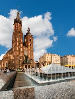 St. mary's gothic church in krakow