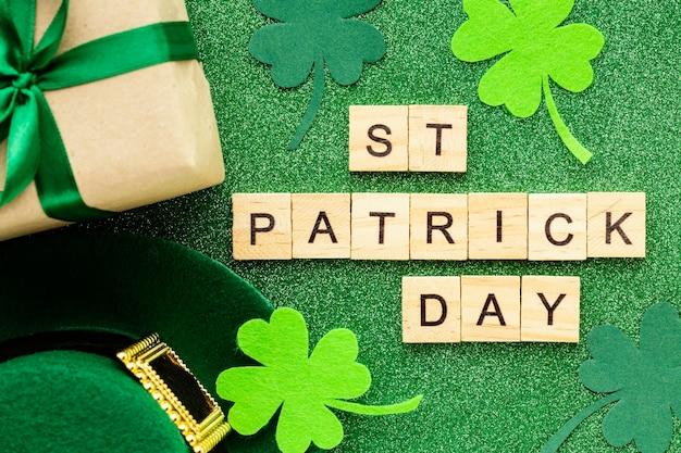 St patrick day celebration top view