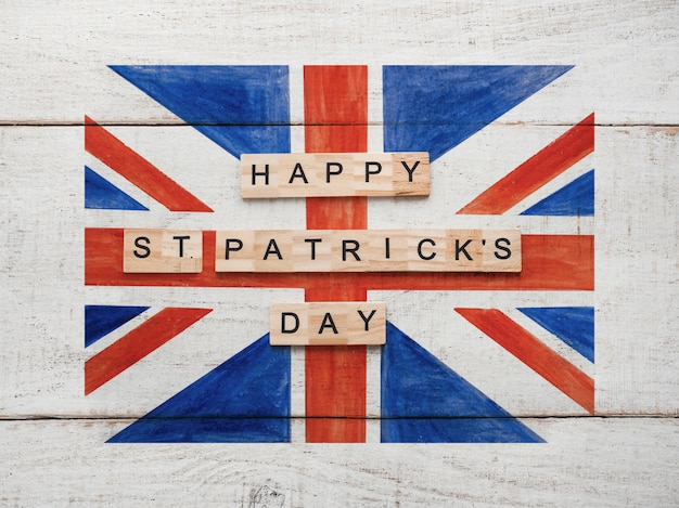 St. patrick's day with an british flag.