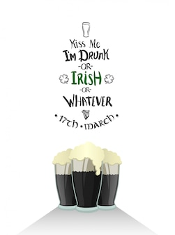 St patricks day greeting vector
