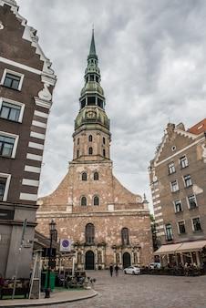 ラトビアの首都、リガの聖ペテロ教会